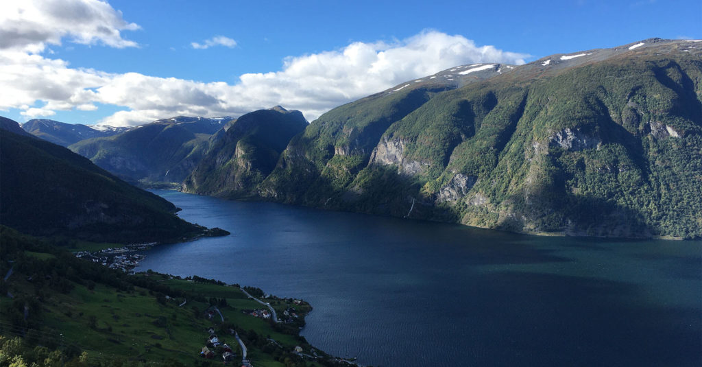 Aurland and Flam in the distance